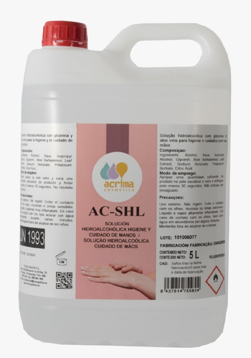 GEL HIDROALCOHOLICO 5L